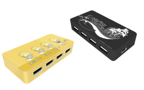 Hub de 4 puertos USB de los Simpsons