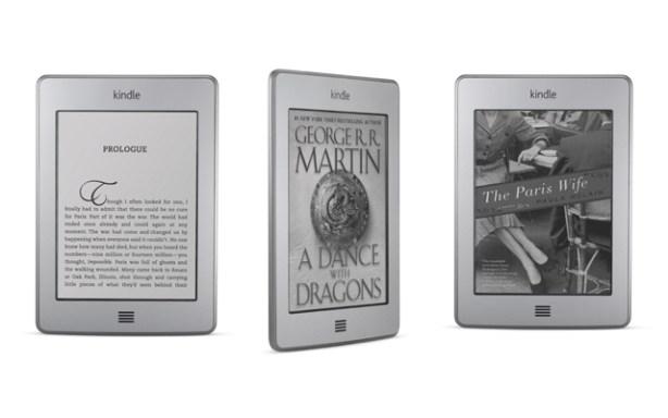 Kindle Touch y Kindle Touch 3G tienen pantalla táctil