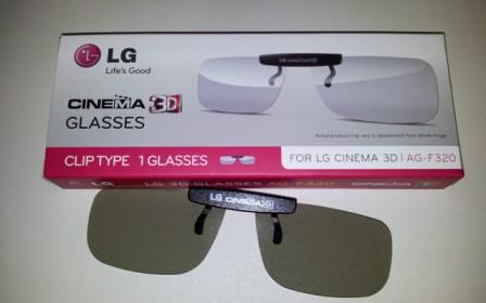 Gafas 3D Clip-on de LG para ponerlas encima de las graduadas