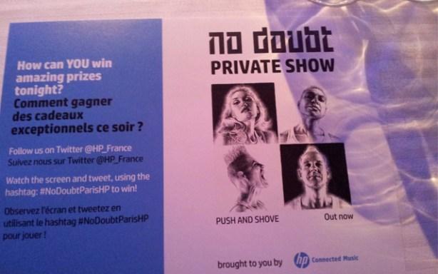 Concierto de No Doubt en Paris fue el primer evento de HP Connected Music
