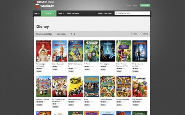 Wuaki.tv ofrece pelis de Disney bajo demanda