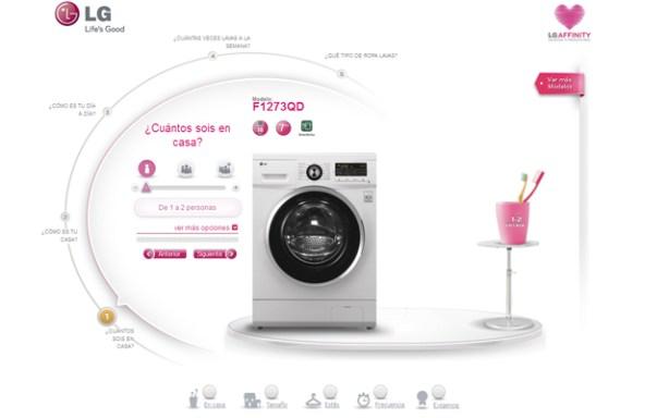 La aplicación Affinitty de LG te ayuda a elegir lavadora.