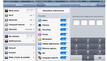 Restricciones en iPhone