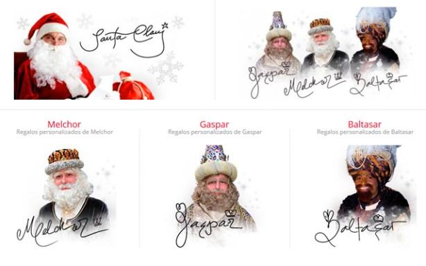 Los Reyes Magos y Santa Claus en MyStarAutograph