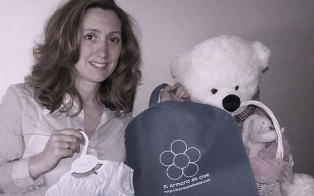 Cristina Díaz, fundadora de El Armario de Cloe, tienda online de ropa infantil