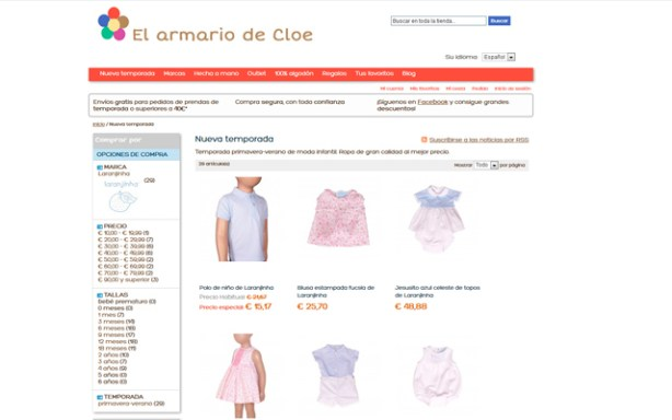 El Armario de Cloe vende ropa infantil de reconocidas marcas
