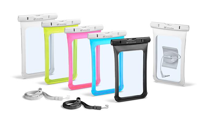 La funda Voyager es hermetica y protege tu smartphone del agua, arena y crema solar