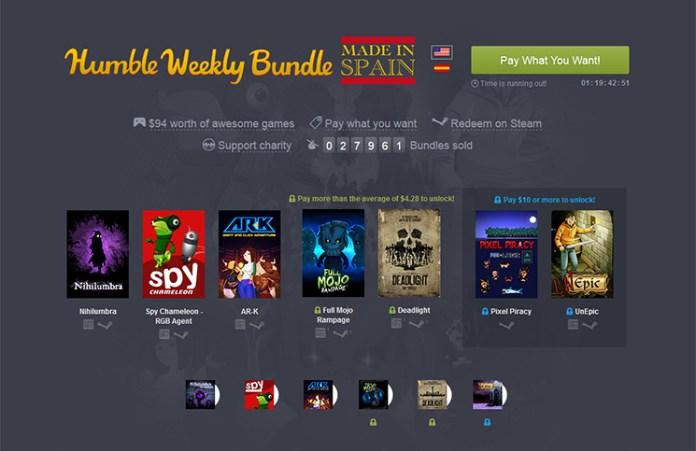 Humble Bundle con videojuegos indies españoles