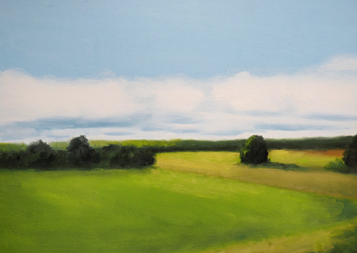 Green fields and summer skies by Kendra Gadzala