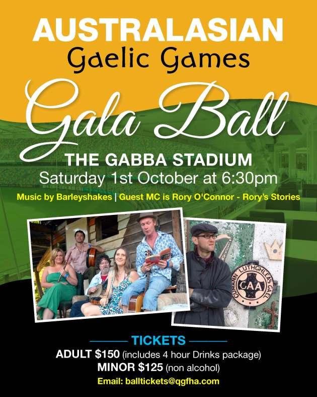 1228 QLD Gaelic Gala Ball Poster