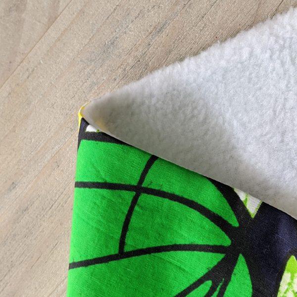 HIBOU Yellow Green Spiral Cosy Neck Warmer a4