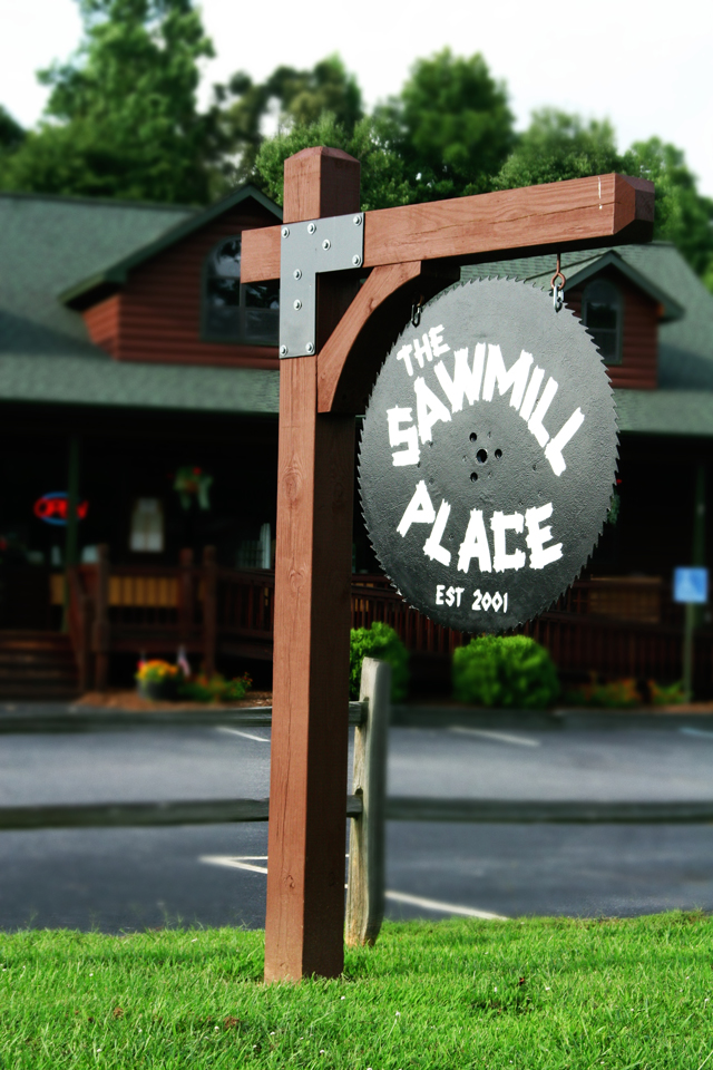 The Sawmill Place sign