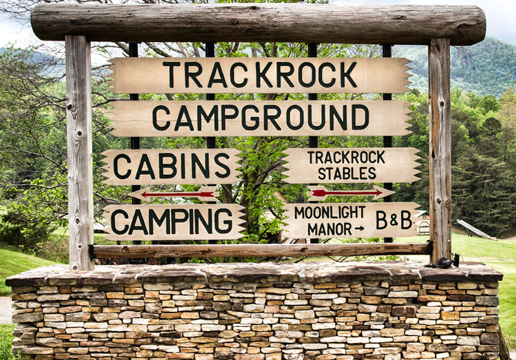 Trackrock Stables Sign