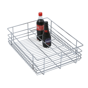 BOTTLE BASKET (6″ HEIGHT X 19″ WIDTH X 20″ DEPTH) 6MM WIRE STAINLESS STEEL