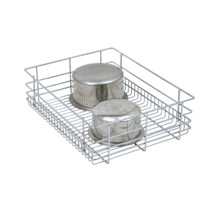 PLAIN DRAWER BASKET (6″ HEIGHT X 21″ WIDTH X 20″ DEPTH) 6MM WIRE STAINLESS STEEL