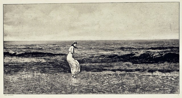 Max Klinger, 'In riva al mare' da 'Intermezzi Opus IV', 1881 - acquaforte e acquatinta