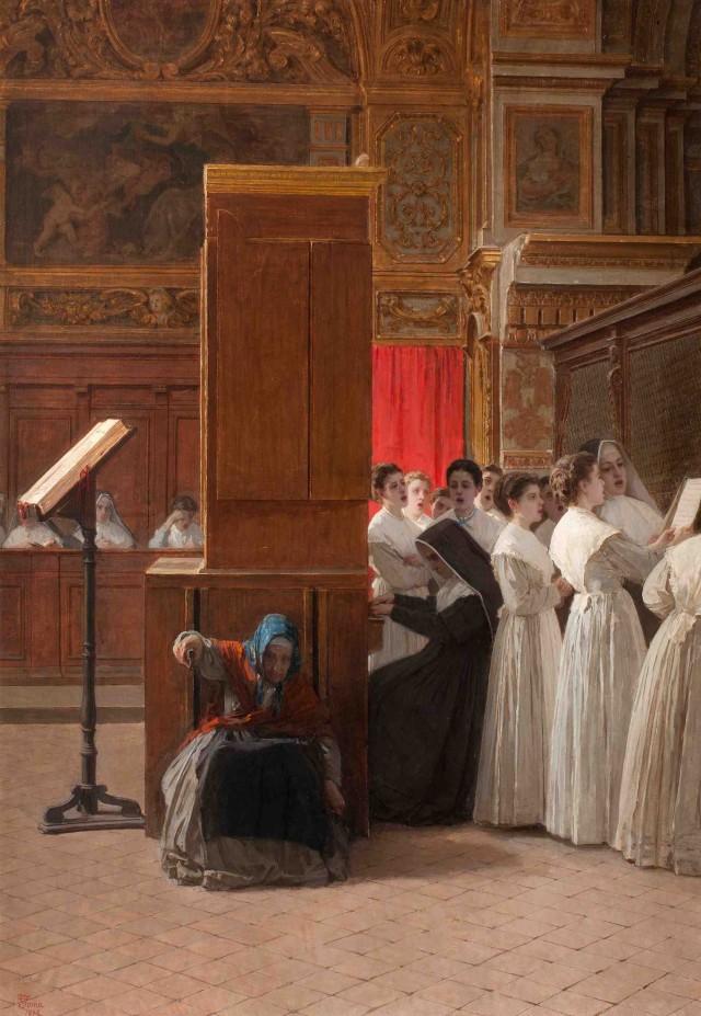 Gioacchino Toma, Le educande al coro, 1878