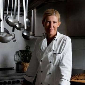 Barbara Bianchi nella sua cucina