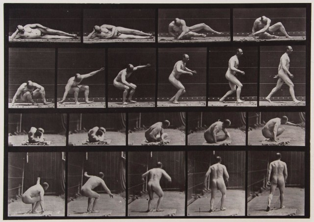 Eadweard Muybridge (1830-1904) - Arising from the Ground and Walking Off, Plate 258, 1887