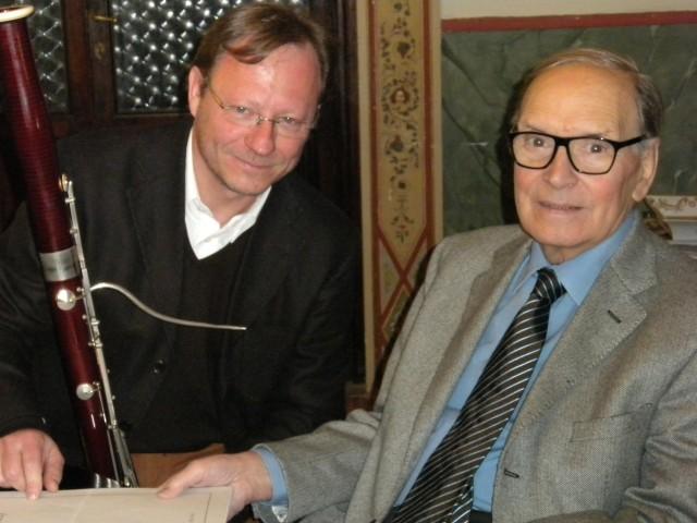 Paolo Carlino e Ennio Morricone