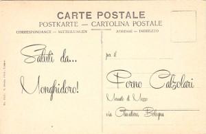 Saluti dal Forno Calzolari (retro)