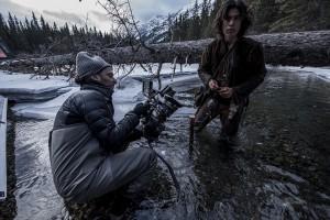 Emmanuel Lubezki e Forrest Goodluck sul set