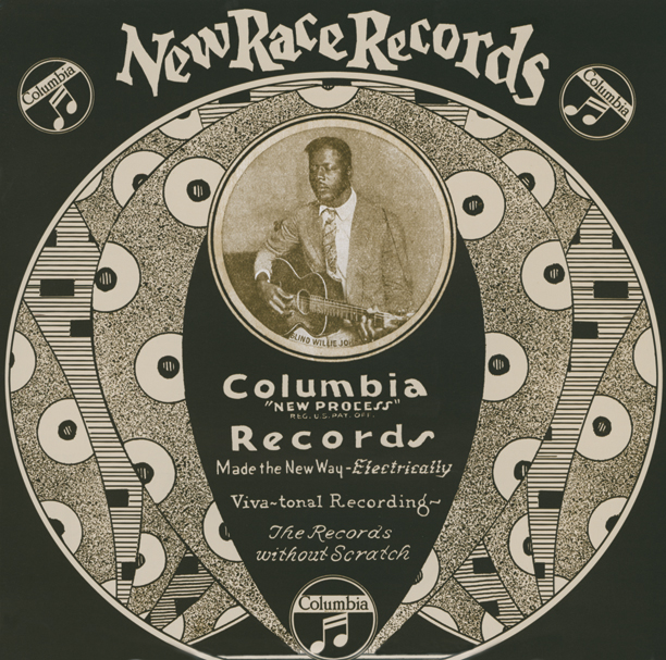 Un vecchio vinile Columbia di Blind Willie Johnson