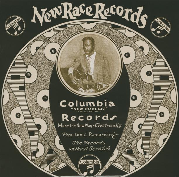 Un vecchio vinile Columbia di Blind Willie Johnson