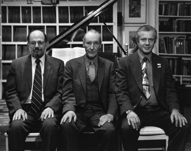 Allen Ginsberg, William S. Burroughs e Peter Orlovski – New York City, 1984...