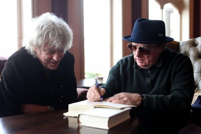 Van Morrison con Bob Geldof