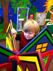 Erik Playing at Kids Play-Place, Presbyterian Hospital, Plano