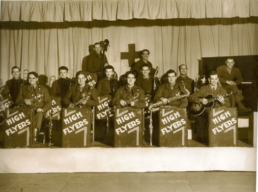 High Flyers Army Air Force Band, R.J. Proctor 2nd from the left in front, clarinet