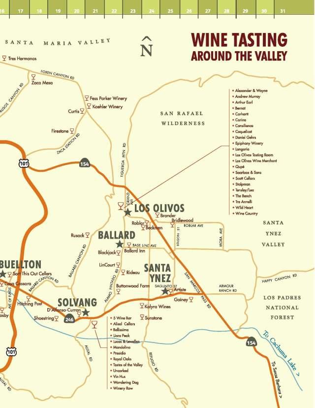 Santa Ynez Wine Tasting Map Page 2