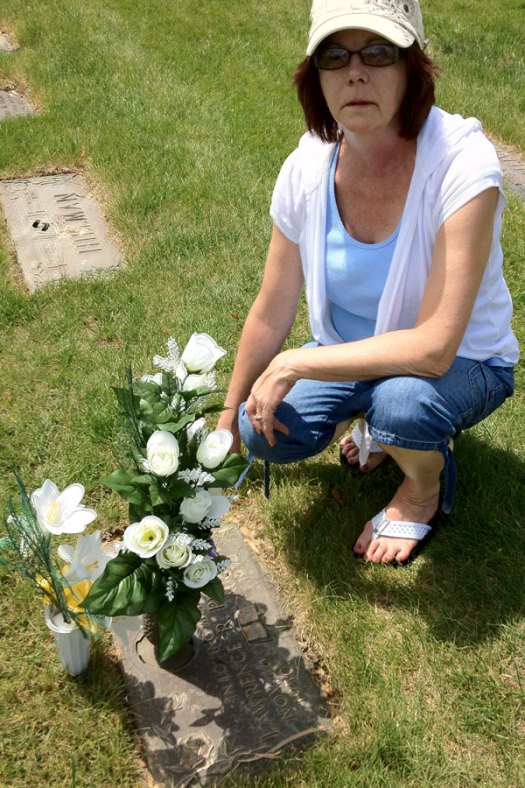 Martha Proctor at Lawrence Raymond Proctor's Grave Side