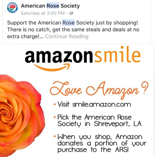 Choose Amazon Smile | Support The American Rose Society