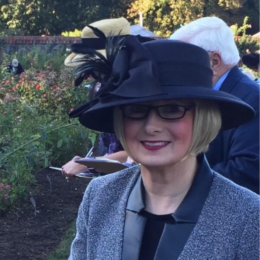 Teresa Byington Judging the Biltmore Rose Trails