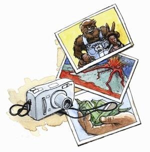scavenger photo hunt cartoon