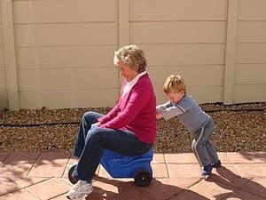 Grandma on trike