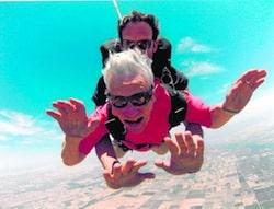 parachuting grandma