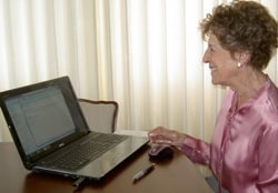 mom with computer