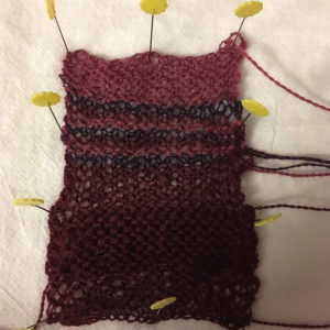 Test swatch for the Color Affection shawl