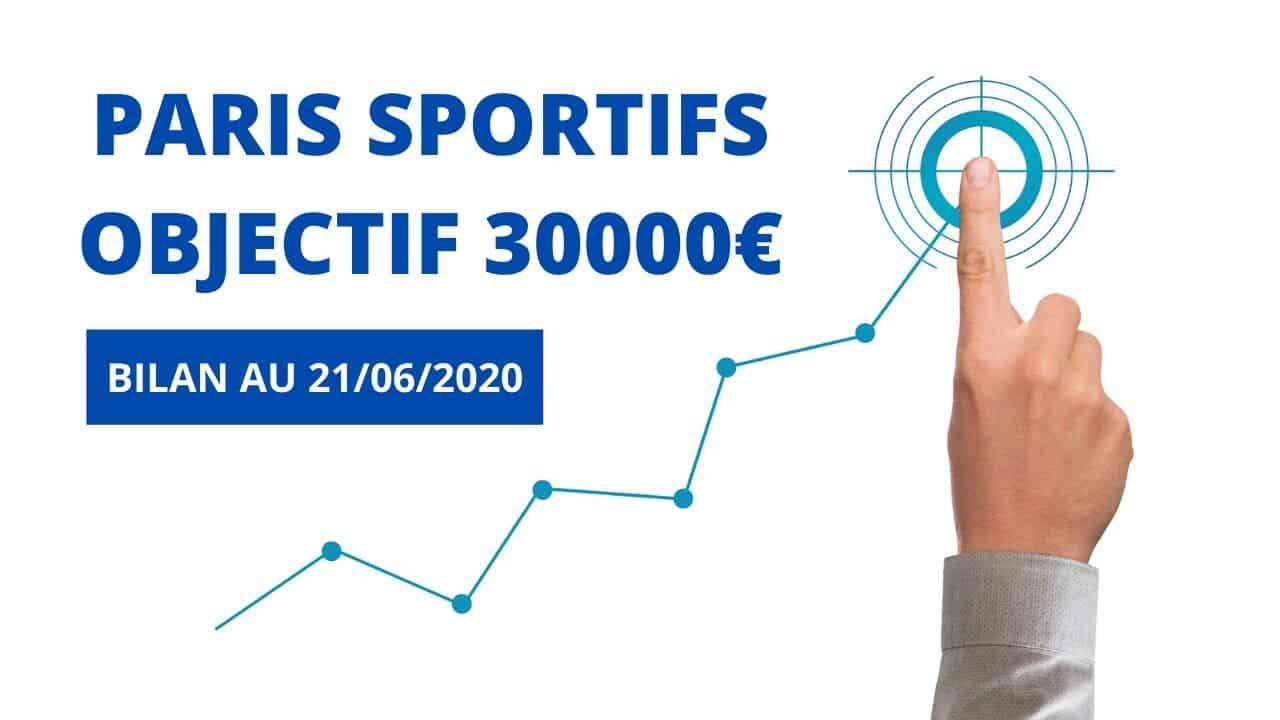 PARIS SPORTIFS OBJECTIF 30000€ bilan 21_6