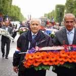 Paris: Arc de Triomphe, ceremony of remembrance to Armenian veterans