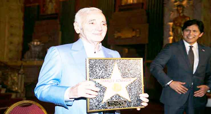 Aznavour to Receive a Star