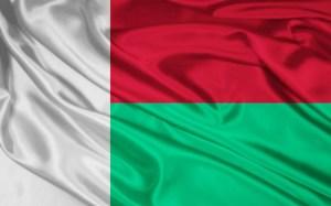Madagascar Flag Map