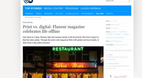 Print vs digital, by Gaia Manco for DW