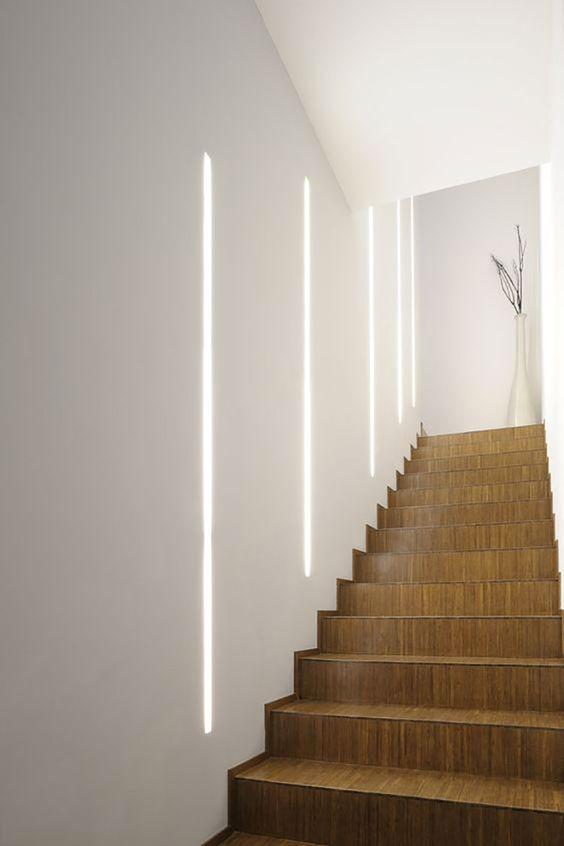 Illuminare la scala con illuminazione esterna