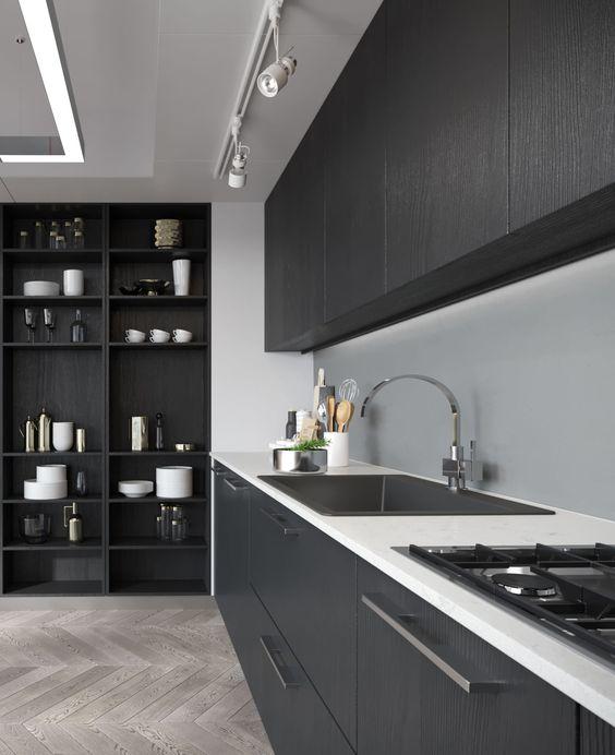 Questa cucina grigia e bianca è il frutto di una combinazione estremamente bilanciata da un punto di vista cromatico, che trasmette un forte senso di ordine ed eleganza. Hai Una Cucina Grigia Ecco Gli Arredi E I Complementi Che La Esaltano