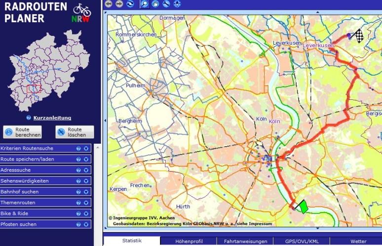 Radweg Karte Routenplaner NRW