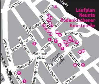 9. Rodenkirchener Kunstmeile 2011 Karte